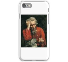 Edward Atkinson Hornel - Portrait of an Old Man in a Scarlet Tunic  iPhone Case/Skin