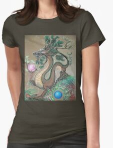 DRAGON - EARTH ELEMENT Womens Fitted T-Shirt