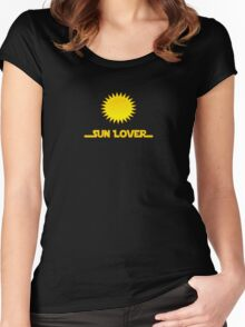 Renewable Energy - Sun Lover T-Shirt Decal Women's Fitted Scoop T-Shirt