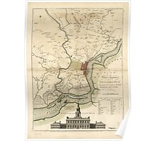 American Revolutionary War Era Maps 1750-1786 219 A plan of the city and environs of Philadelphia Library of Congress Poster