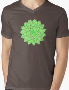 Green Cactus Mens V-Neck T-Shirt