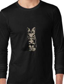 Kitty Cat (Brown) Long Sleeve T-Shirt