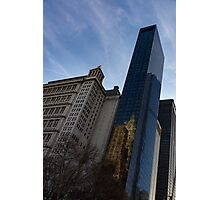 Shoulder to Shoulder - Manhattan Skyscrapers From Different Eras Photographic Print