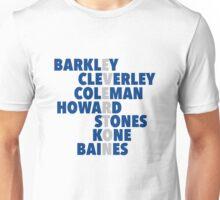 Everton spelt using players names Unisex T-Shirt
