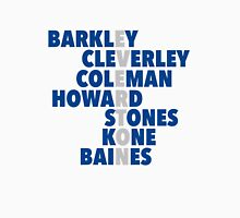Everton spelt using players names Unisex T-Shirt