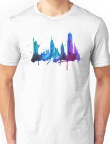 Watercolor New York Skyline Silhouette Unisex T-Shirt