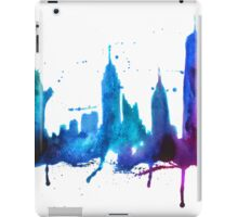 Watercolor New York Skyline Silhouette iPad Case/Skin