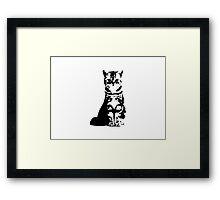 Kitty Cat (White) Framed Print
