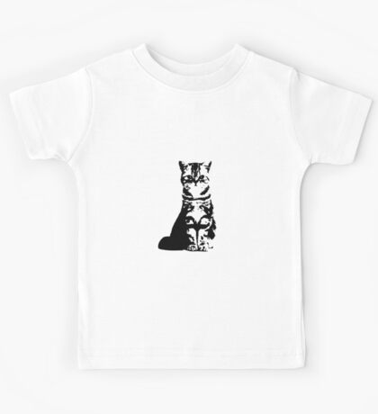 Kitty Cat (White) Kids Tee