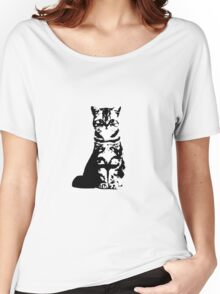 Kitty Cat (White) Women's Relaxed Fit T-Shirt