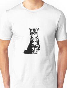 Kitty Cat (White) Unisex T-Shirt