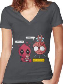 Superhero Ship Women's Fitted V-Neck T-Shirt