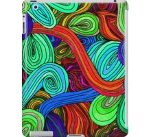 Psychedelic Lines (Red) iPad Case/Skin