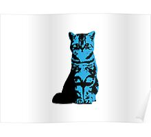 Kitty Cat (Blue) Poster