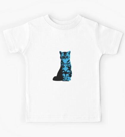 Kitty Cat (Blue) Kids Tee
