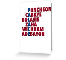 Palace spelt using player names Greeting Card