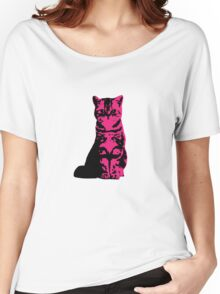 Kitty Cat (Pink) Women's Relaxed Fit T-Shirt