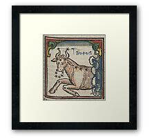 Taurus 16th Century Woodcut Framed Print
