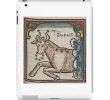 Taurus 16th Century Woodcut iPad Case/Skin