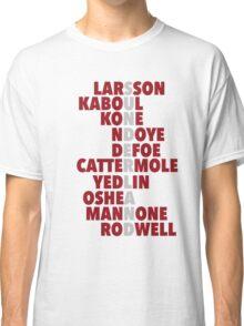 Sunderland spelt using player names Classic T-Shirt