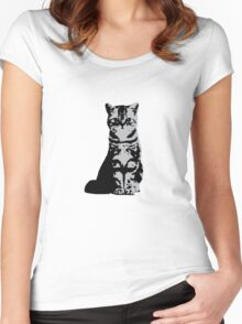 Kitty Cat (Grey) Women's Fitted Scoop T-Shirt
