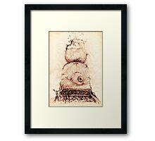 TIME SEES EVERYTHING Framed Print