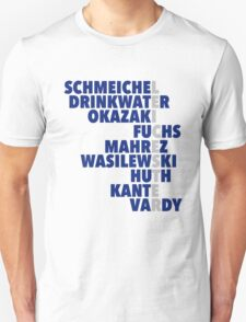 Leicester spelt using player names T-Shirt