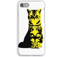 Kitty Cat (Yellow) iPhone Case/Skin