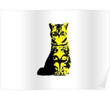 Kitty Cat (Yellow) Poster