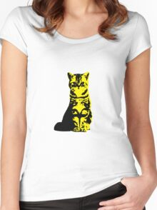 Kitty Cat (Yellow) Women's Fitted Scoop T-Shirt