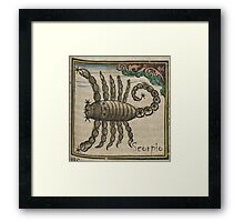 Scorpio 16th Century Woodcut Framed Print