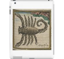 Scorpio 16th Century Woodcut iPad Case/Skin