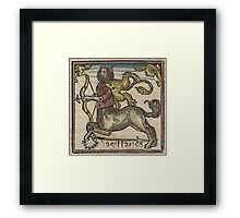 Sagittarius Woodcut 16th Century Framed Print
