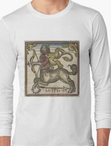 Sagittarius Woodcut 16th Century Long Sleeve T-Shirt