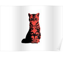 Kitty Cat (Red) Poster