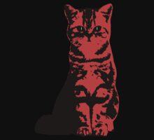 Kitty Cat (Red) Kids Tee