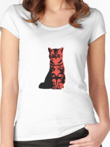 Kitty Cat (Red) Women's Fitted Scoop T-Shirt