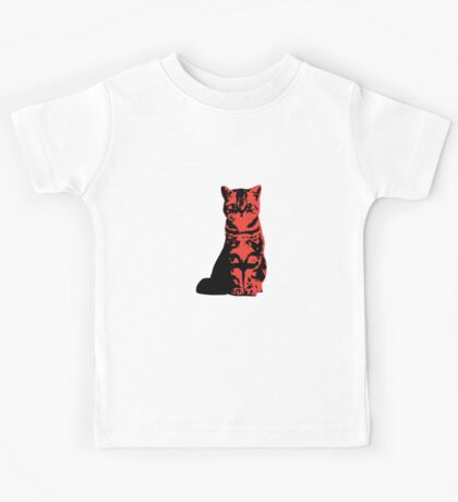 Kitty Cat (Red) Kids Tee