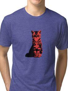 Kitty Cat (Red) Tri-blend T-Shirt
