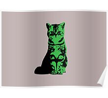 Kitty Cat (Green) Poster