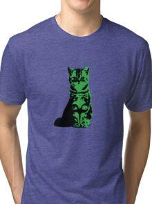 Kitty Cat (Green) Tri-blend T-Shirt