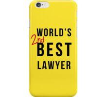 World's 2nd Best Lawyer iPhone Case/Skin