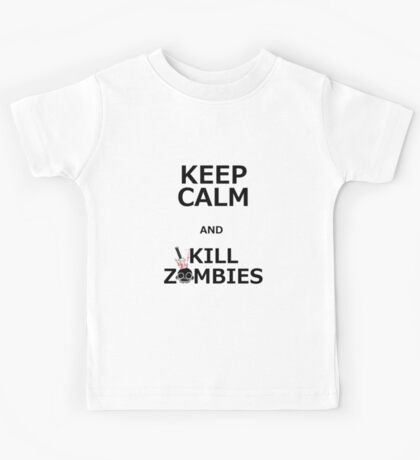 Keep Calm & Kill Zombies Kids Tee