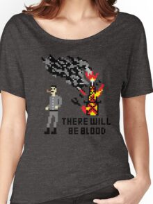 There Will Be Blood Pixel Women's Relaxed Fit T-Shirt