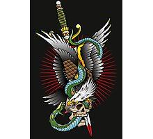 Eagle and snake tatoo design Photographic Print