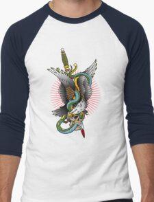 Eagle and snake tatoo design Men's Baseball ¾ T-Shirt