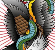 Eagle and snake tatoo design Sticker
