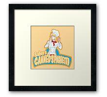 Saber's Canned Spaghetti  Framed Print