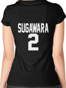 Haikyuu!! JerseySuga Number 2 (Karasuno) Women's Fitted Scoop T-Shirt
