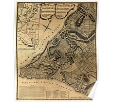 American Revolutionary War Era Maps 1750-1786 224 A plan of the city of New York & its environs to Greenwich on the North or Hudsons River and to Crown Point Poster